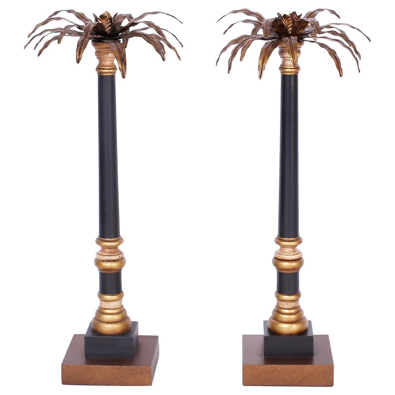 Palm Tree Pricket Candlesticks