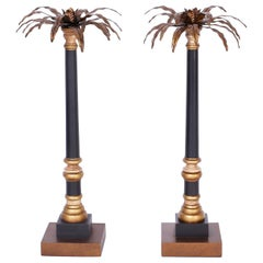 Palm Tree Pricket Candlesticks