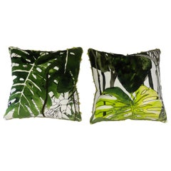 Palm Tree Throw Pillows, Christian Lacroix Fabric