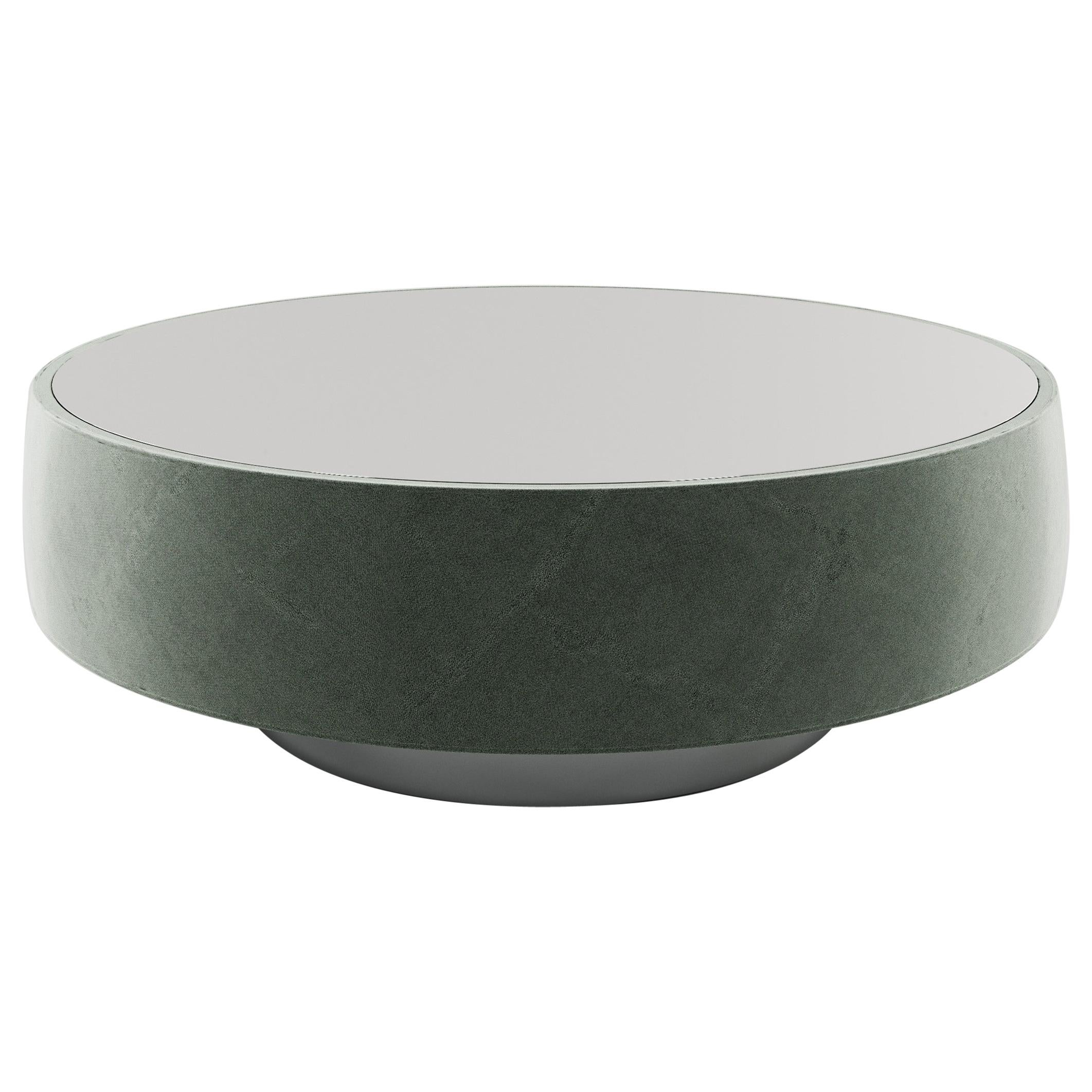 Palma Coffee Table with Black Glass Top and Stainless Steel Base