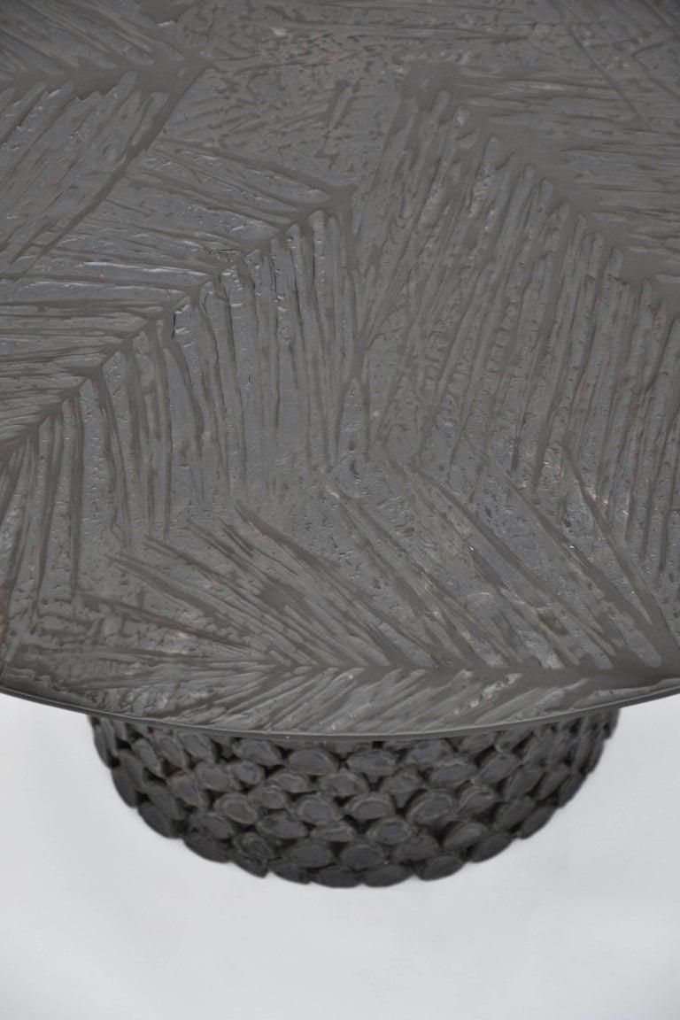 Aluminium cast black finished.