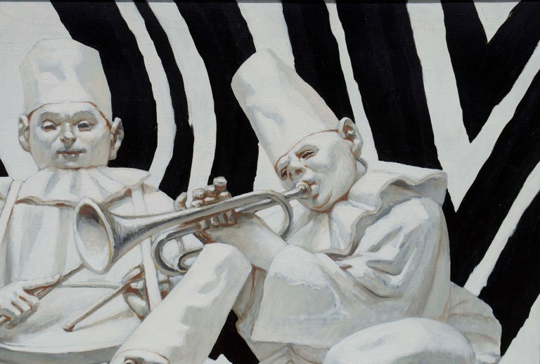 Mardi Gras: Commedia Dell'Arte - Realist Painting by Palmer Schoppe