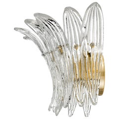 Palmette 5310 1 Wall Sconce in Crystal Glass, by Barovier&Toso