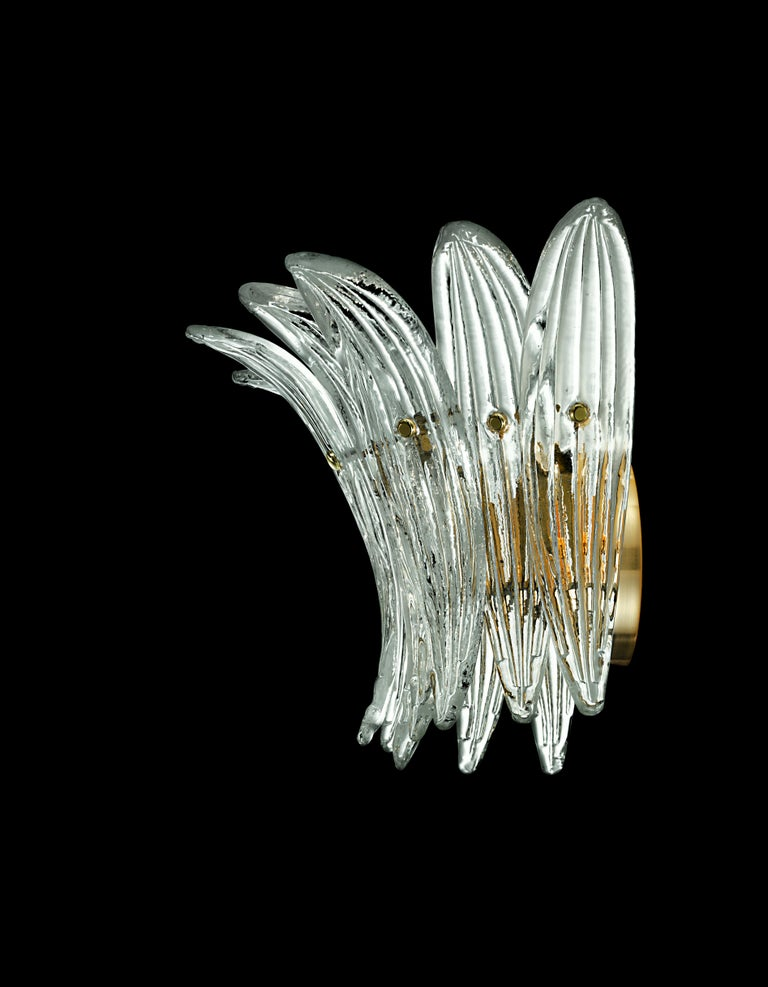 Modern Palmette 5310 1 Wall Sconce in Crystal Glass, by Barovier&Toso For Sale