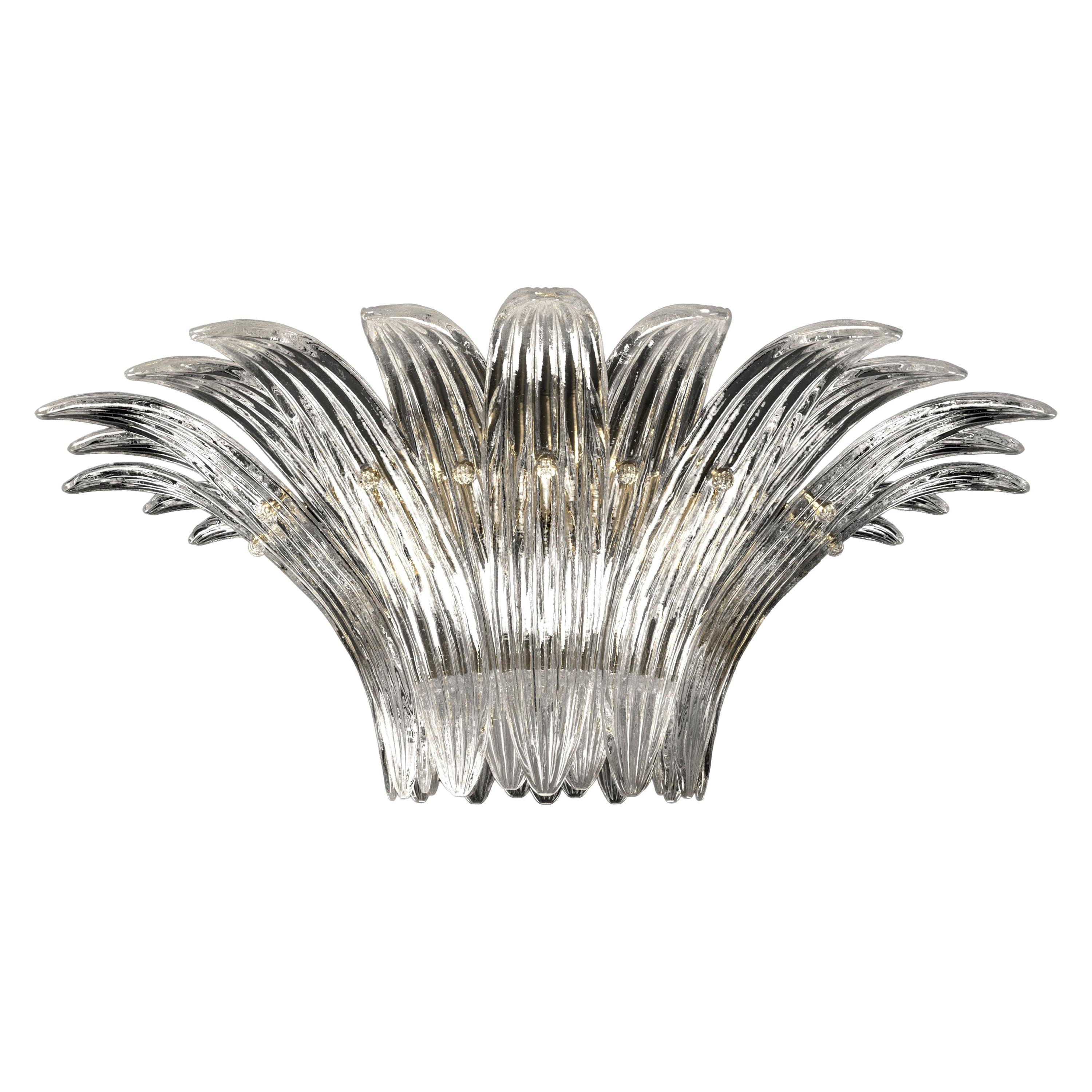 Palmette 5310 3 Ceiling Lamp in Crystal Glass, by Barovier&Toso