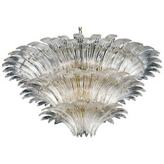 Palmette 5310 6 Suspension Lamp in Crystal Glass, by Barovier&Toso