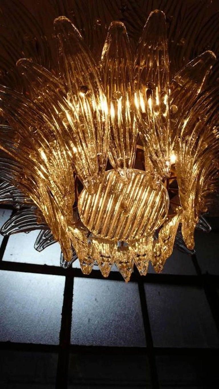 Palmette Chandelier Barovier & Toso Style, Murano For Sale 2