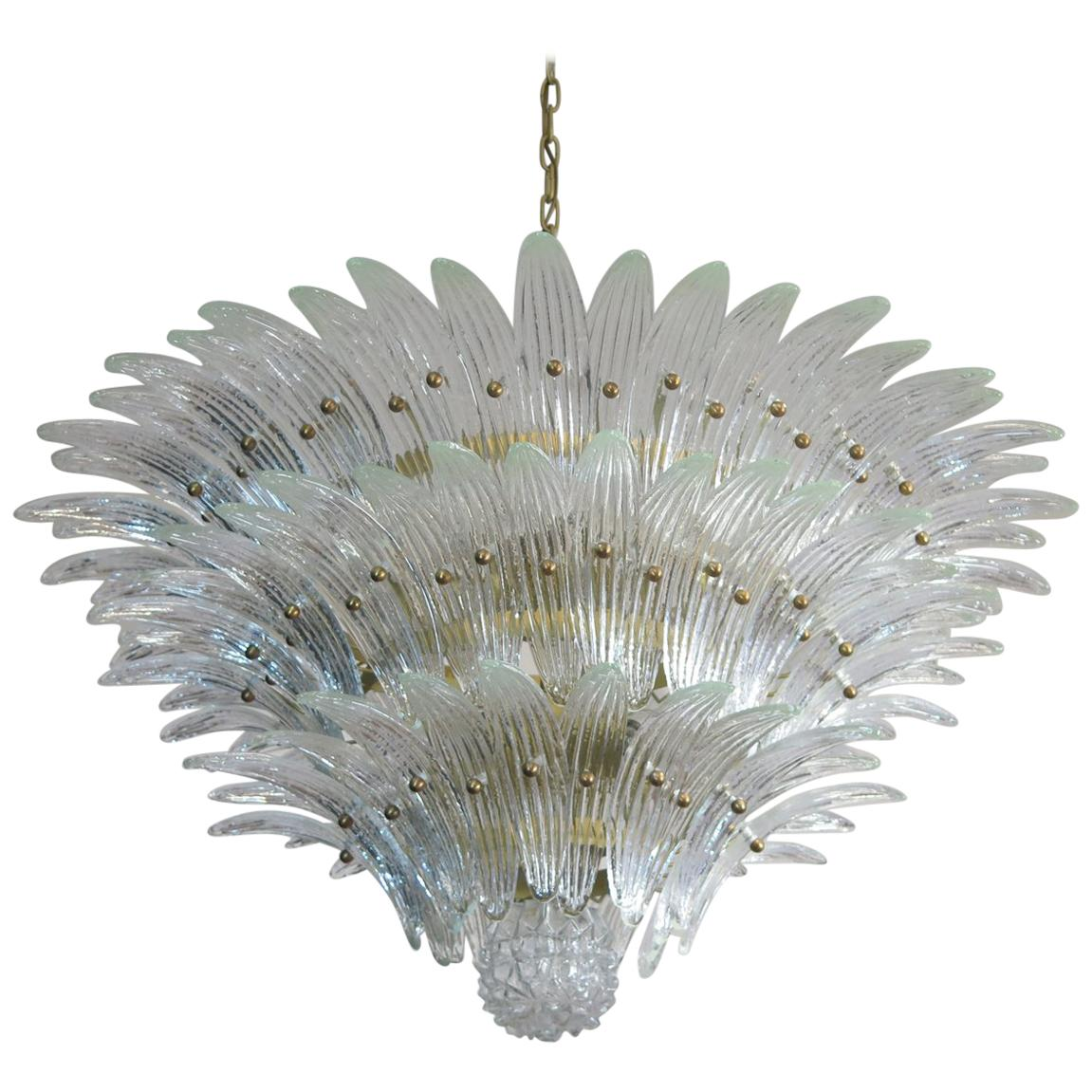 Amazing Italian Leaves Chandelier. Murano