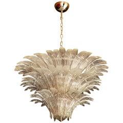 Palmette Murano Glass Chandelier of Flushmount