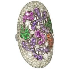 Palmiero 18 Karat White Gold Color Gems and Diamonds