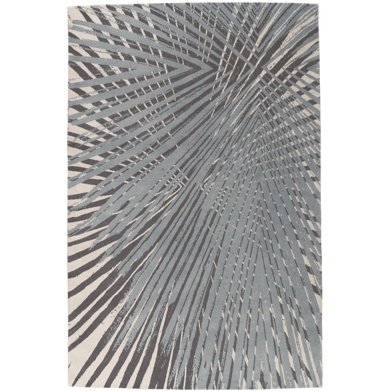 Palms Hand-Knotted 10x8 Rug in Wool by Allegra Hicks For Sale