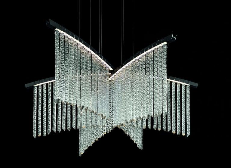 Palmyra 7270 Suspension Lamp with Silver Frame, by Fabio Calvi & Paolo Brambilla For Sale 2