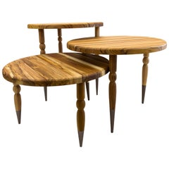 Palo Occasional Table in Teak with Turned Spindle Legs