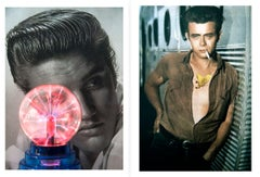 Diptych: Elvis Presley Small and James Dean, Castelloland series. Large