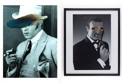 Diptych: 'James Bond'  and Rudolph Valentino,  Castelloland series