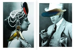 Diptych: Mata Hari and Rudolph Valentino from the Castelloland series, Large