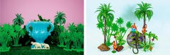Diptych, Tropicarios #5 and  #8, from the Tropicarios series
