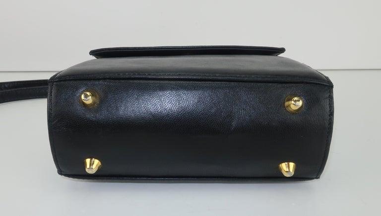 Paloma Picasso Black Leather X Logo Handbag For Sale 3
