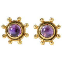 Paloma Picasso for Tiffany Amethyst Earrings