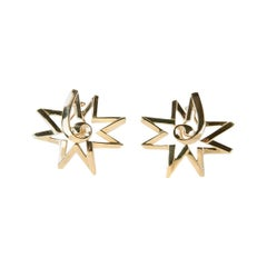 Paloma Picasso for Tiffany & Co. 18 Karat Gold Sun Star Earrings
