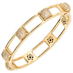Paloma Picasso for Tiffany & Co. 18 Karat Yellow Gold and Diamond Bracelet
