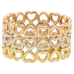 Paloma Picasso for Tiffany & Co. Crown of Hearts Tricolor Band Ring 18K