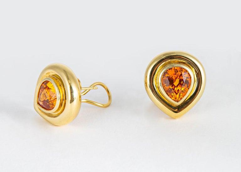 Women's or Men's Paloma Picasso for Tiffany & Co. Mandarin 'Spessartite' Garnet Earrings