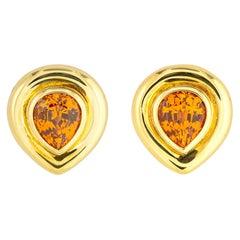 Paloma Picasso for Tiffany & Co. Mandarin 'Spessartite' Garnet Earrings