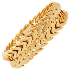 Paloma Picasso for Tiffany & Co. Paris 18K Yellow Gold Chevron Bracelet C.1970s