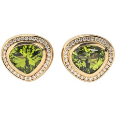 Paloma Picasso for Tiffany & Co. Peridot and Diamond Earrings