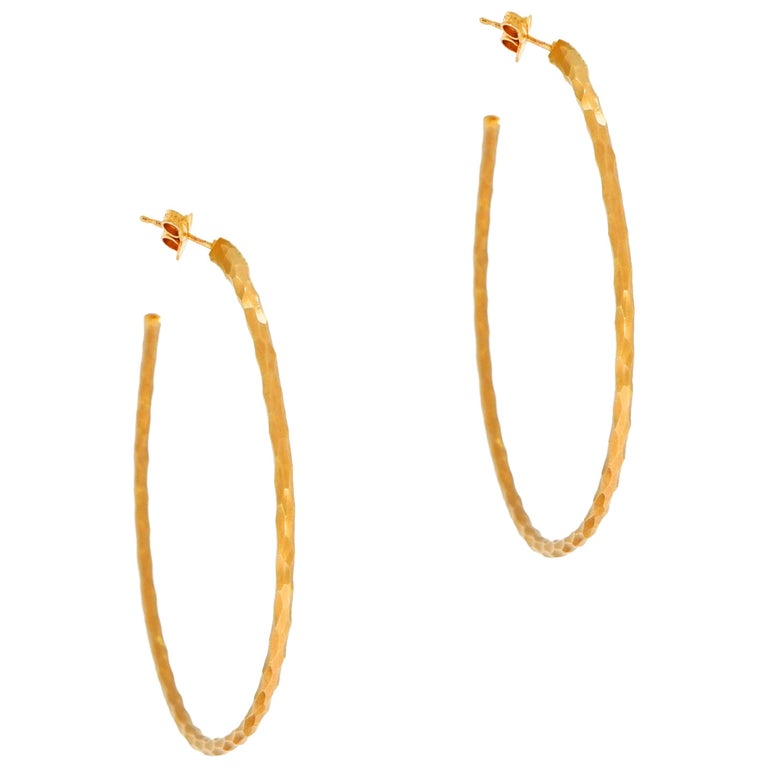 e56e034ca Paloma Picasso for Tiffany and Co. Rose Gold Hoop Earrings For Sale ...