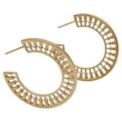 Paloma Picasso for Tiffany & Co. 'Venezia Stella' Gold Hoop Earrings