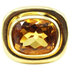 Paloma Picasso for Tiffany & Co. Yellow Gold Citrine Ring