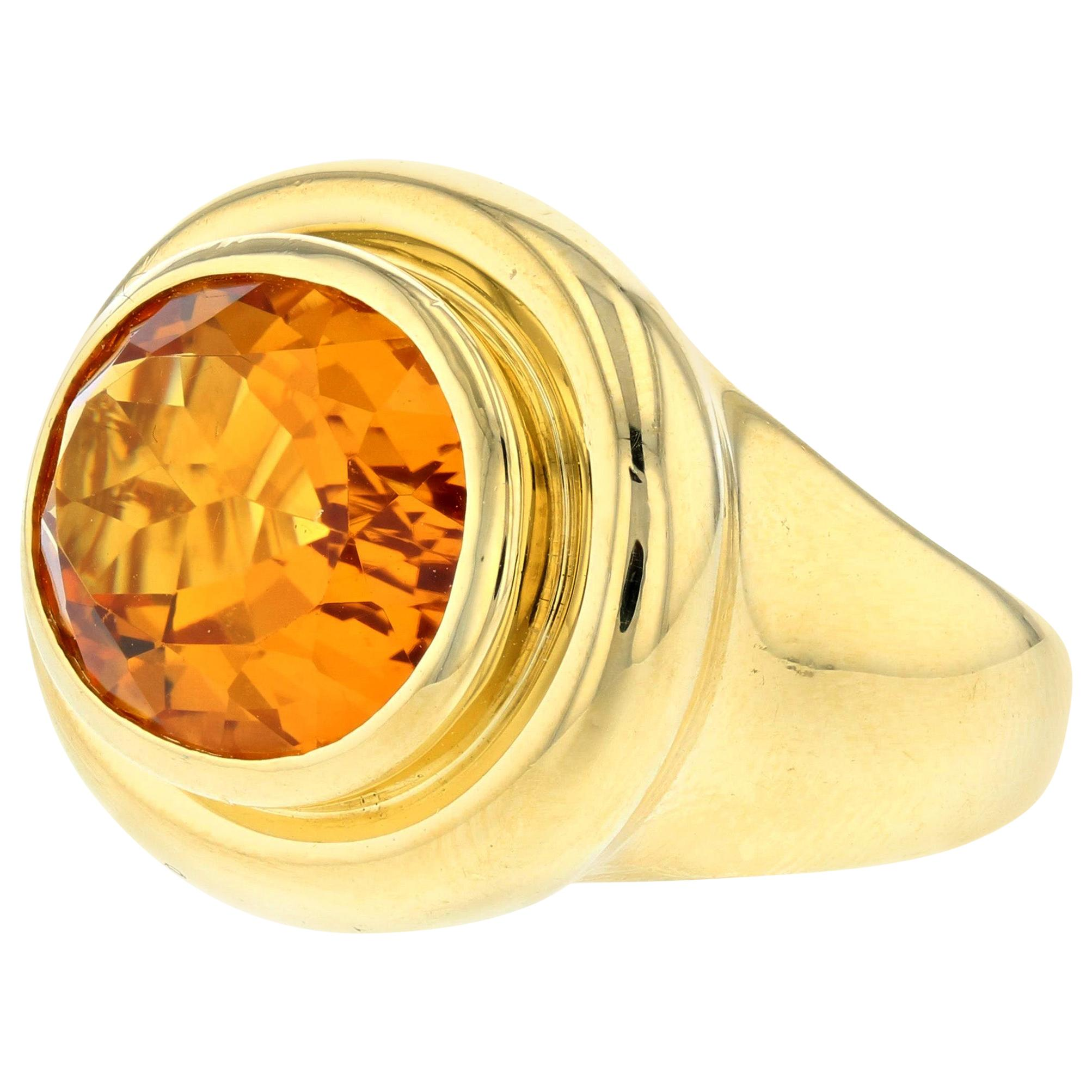 Paloma Picasso for Tiffany & Co. 18K Yellow Gold Citrine Ring