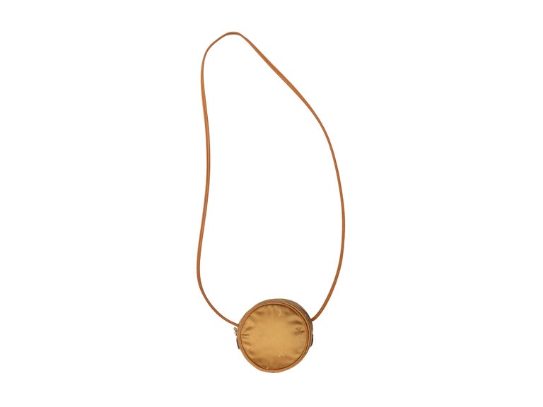 Brown Paloma Picasso Gold Circular Crossbody Bag For Sale