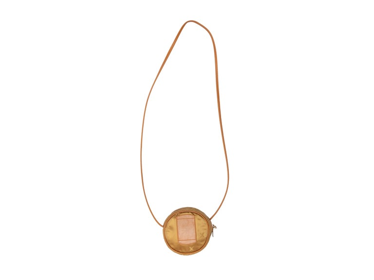 Paloma Picasso Gold Circular Crossbody Bag In Good Condition For Sale In New York, NY