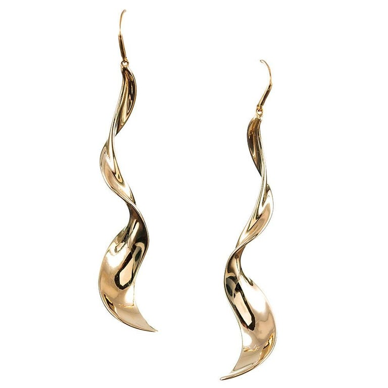 Paloma Picasso Golden Spiral Drop Earrings