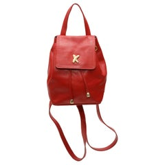 Paloma Picasso Red Leather Mini Backpack