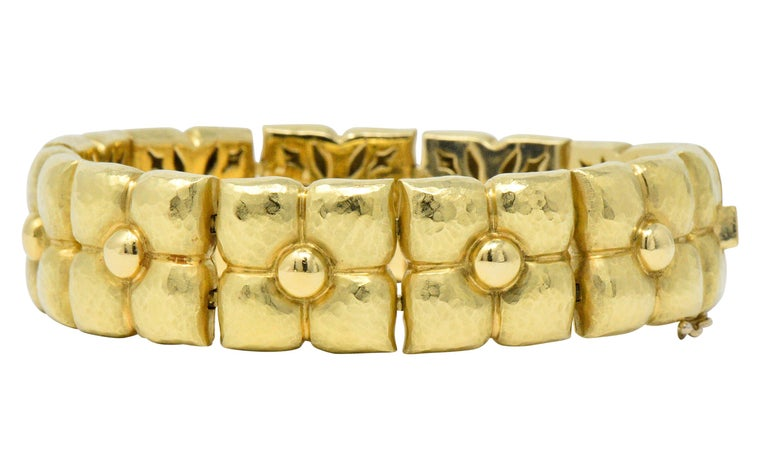 Contemporary Paloma Picasso Tiffany & Co. 18 Karat Gold Bracelet with Pouch For Sale