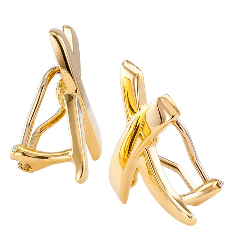 b63c6c8f6ad20 Paloma Picasso Tiffany & Co Gold X Earrings