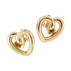 Paloma Picasso Tiffany & Co. Heart Shaped Yellow Gold Clip On Earrings