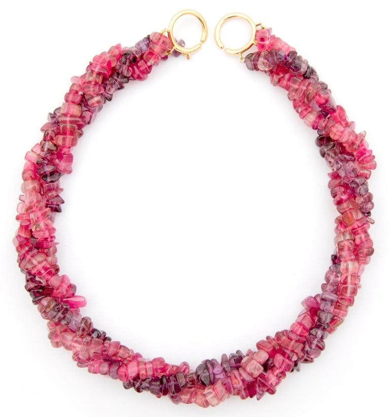 e214eb336 Paloma Picasso, Tiffany & Co. Pink and Purple Tourmaline Three-Strand  Necklace For