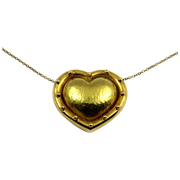 35835f60b Paloma Picasso Tiffany and Co. Puffed Gold Heart For Sale at 1stdibs
