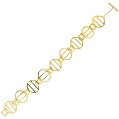 Paloma Picasso Tiffany & Co. Vintage 18 Karat Gold Octagonal Link Bracelet