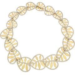 "Paloma Picasso Tiffany & Co. Yellow Gold Diamond ""Villa Paloma"" Necklace"