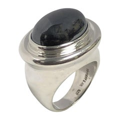 Paloma Picasso Tiffany & Company Silver and Hematite Large Ring