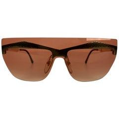 Paloma Picasso Vintage Shield Sunglasses Mod. 3727 One Piece Lens