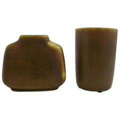 Palshus 2 Danish Modern Stoneware Vessels by Per Linnemann Schmidt Denmark 1960s