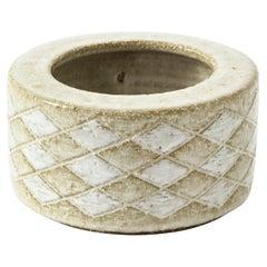 Palshus Diamond Detail Ceramic Vase, Denmark, 1960s