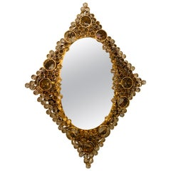 Palwa Austrian 1970s Crystal Back Lit Mirror